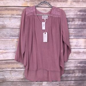 NWT Current Elliot picnic shirt coral rose 2 NEW